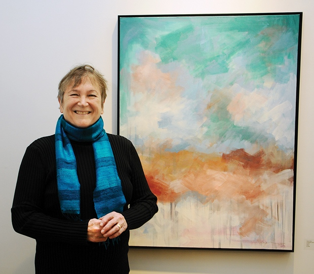 "Joyce Ozier presenting ""Summer Haze"" at the Seymour Art Gallery - As published in the North Shore News"