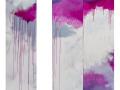 "Fushsia Rain | 72""x54"" (+space)"